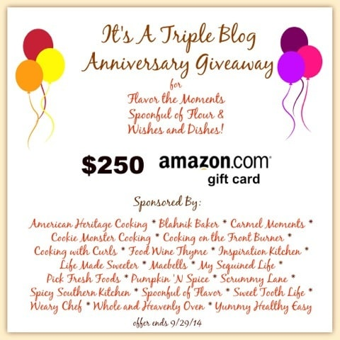 Triple Blog Anniversary $250 Amazon Card Giveaway!