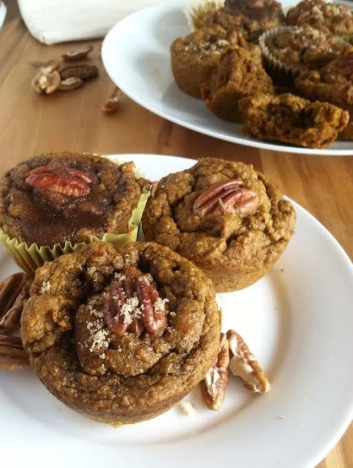 Pumpkin Pecan Spice Muffins from Two Raspberries