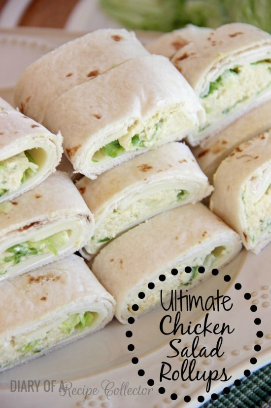 Ultimate Chicken Salad Rollups from Diary of a Recipe Collector