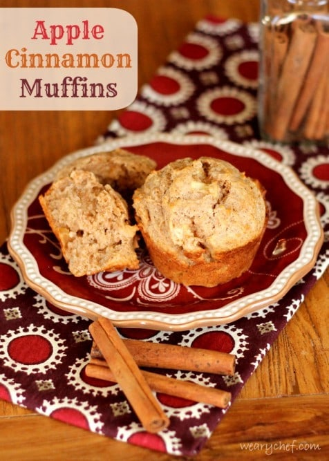 Apple Cinnamon Muffins from The Weary Chef
