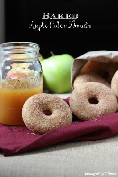 Baked Apple Cider Donuts from Spoonful of Flavor