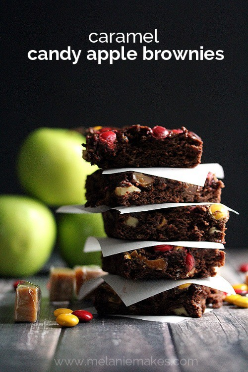 Caramel Candy Apple Brownies from Melanie Makes