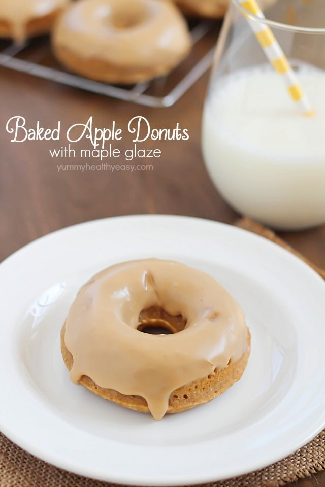 the best baked donuts ever! Moist, apple-spiced flavor dipped ...