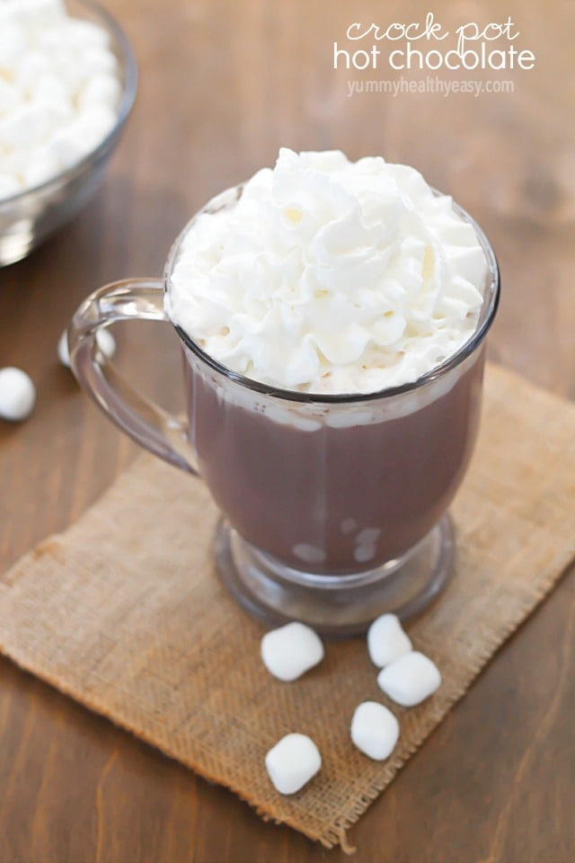 Crock Pot Hot Chocolate - the easiest way to make hot chocolate for a crowd!