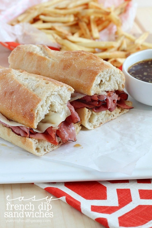 Easy French Dip Sandwiches - made with only a few simple ingredients and takes only 20 minutes!