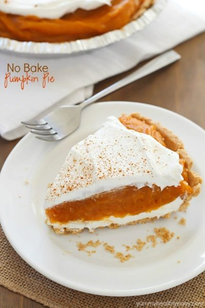 No Bake Pumpkin Pie - the easiest pumpkin pie that (obviously!) needs ...