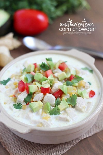 Quick & Easy Southwestern Corn Chowder made in one pot and in about 30 minutes! Comforting, filling and delicious!