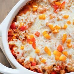 Stuffed Pepper Casserole + $100 Visa Gift Card Giveaway!