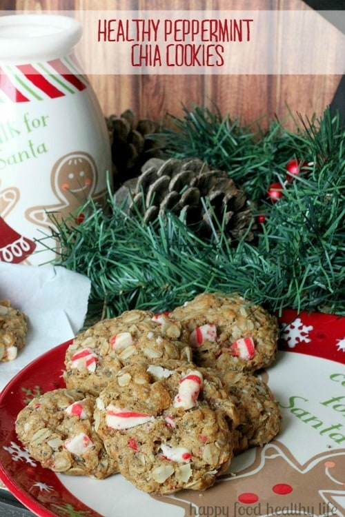 Healthy Peppermint Chia Cookies from Happy Food Healthy Life