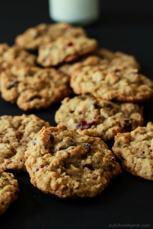 Pistachio Cranberry Oatmeal Cookies from Joyful Healthy Eats
