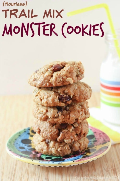 Trail Mix Monster Cookies from Cupcakes & Kale Chips