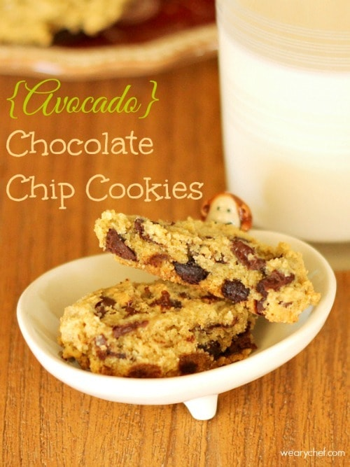 Avocado Chocolate Chip Cookies from The Weary Chef