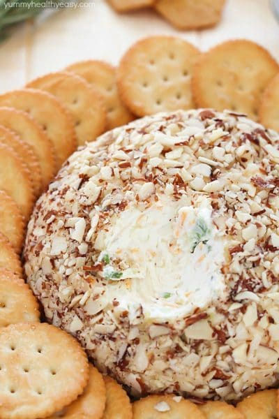 super easy cheese ball that's sure to impress any guests! It's ...