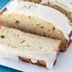 Light and moist eggnog bread drizzled with an eggnog glaze. So much flavor packed into one loaf! Soft, moist and delicious. This is a must-make!