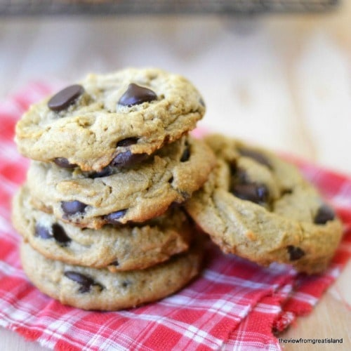 Flourless Peanut Butter Chocolate Chip Cookies fom The View From Great ...