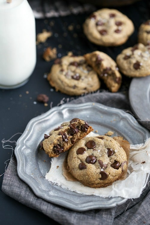 Healthy Chocolate Chip Cookies from Chelsea's Messy Apron
