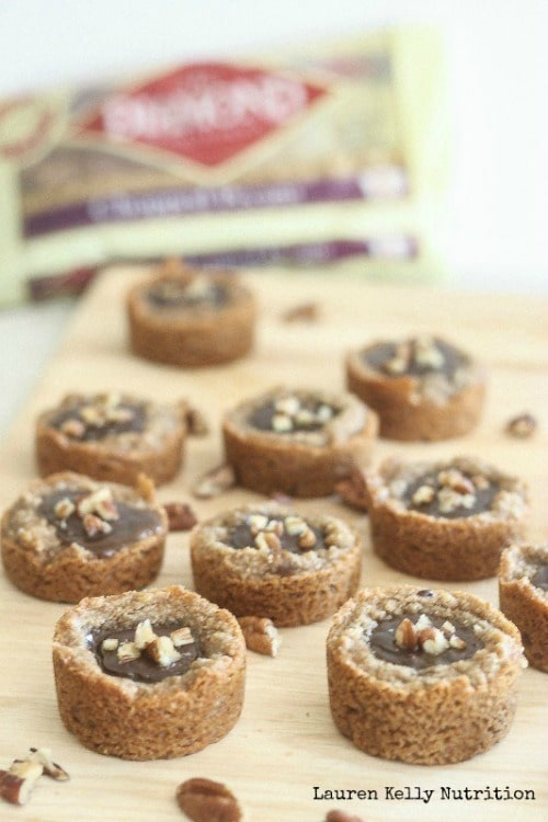 Salted Caramel Chocolate Pecan Tarts from Lauren Kelly Nutrition