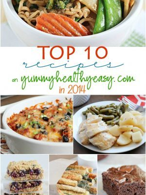 Say goodbye to 2014! Check out the Top 10 recipes and/or posts that were on Yummy Healthy Easy this year!