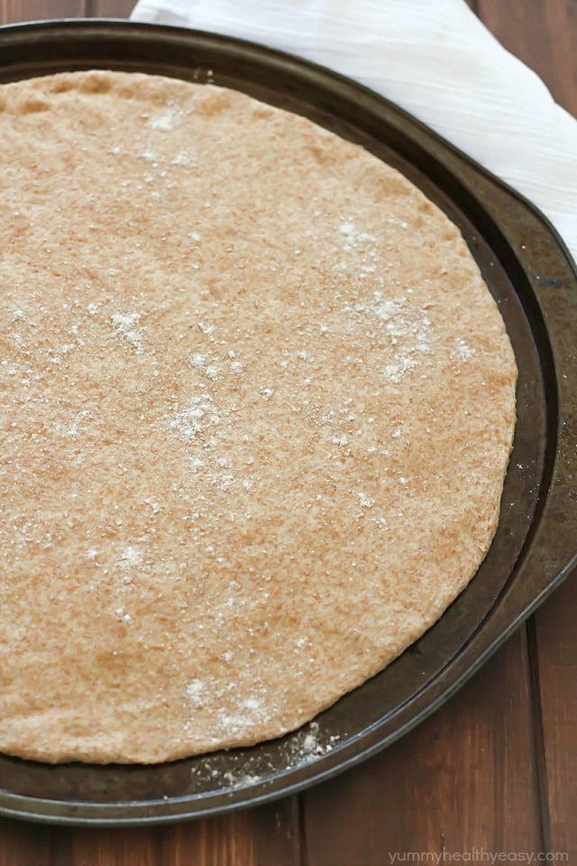 Crazy easy Whole Wheat Pizza Dough - no rising needed! Quick, healthy ...