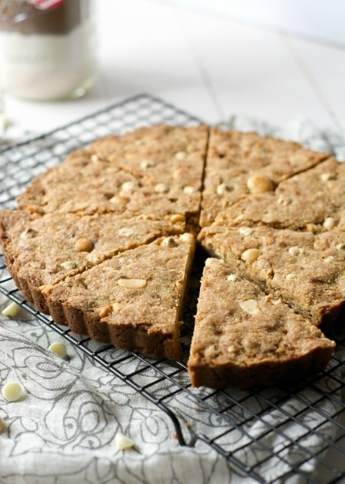 Whole Wheat White Chocolate Macadamia Cookie Cake from The Housewife in Training Files