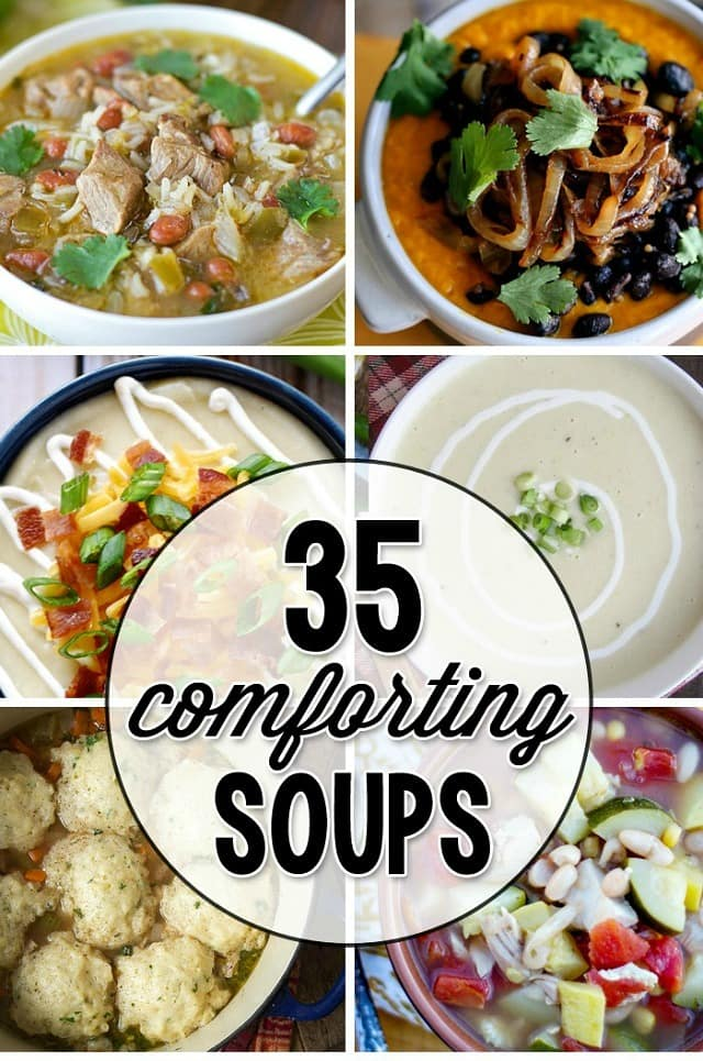 35 Warm and Comforting Soup Recipes on YellowBlissRoad.com