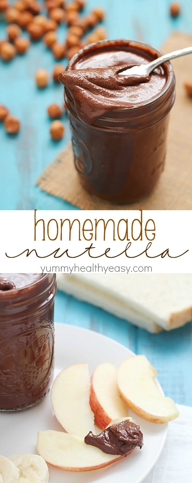 Did you know you can make Nutella at home?? It's easy! And dare I say, better than the original? Try it and see! Get this homemade nutella recipe on @yummyhealthyeasy
