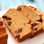 Healthy Banana Bread recipe made with a secret ingredient ;) and all in the food processor! It's moist, decadent and perfect for using up those ripe bananas laying on your counter.