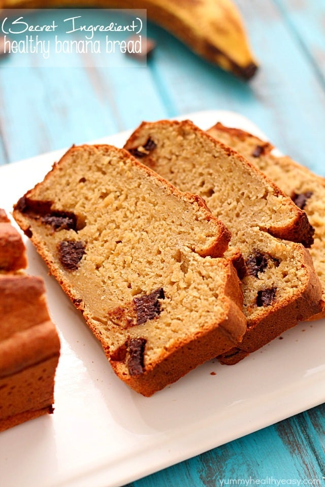 Secret ingredient healthy banana bread recipe yummy healthy easy healthy banana bread recipe made with a secret ingredient and all in the food forumfinder Images