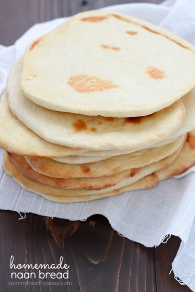 Ever tried naan bread? It's a leavened, oven-baked flatbread found in Indian cuisine - and it's delicious! Here's an easy homemade naan bread recipe you can make right at home!