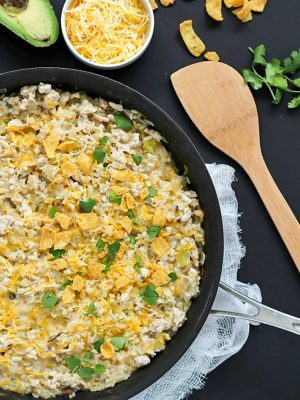 Easy turkey skillet recipe, all cooked in one pot. The quickest, easiest dinner you will ever make!
