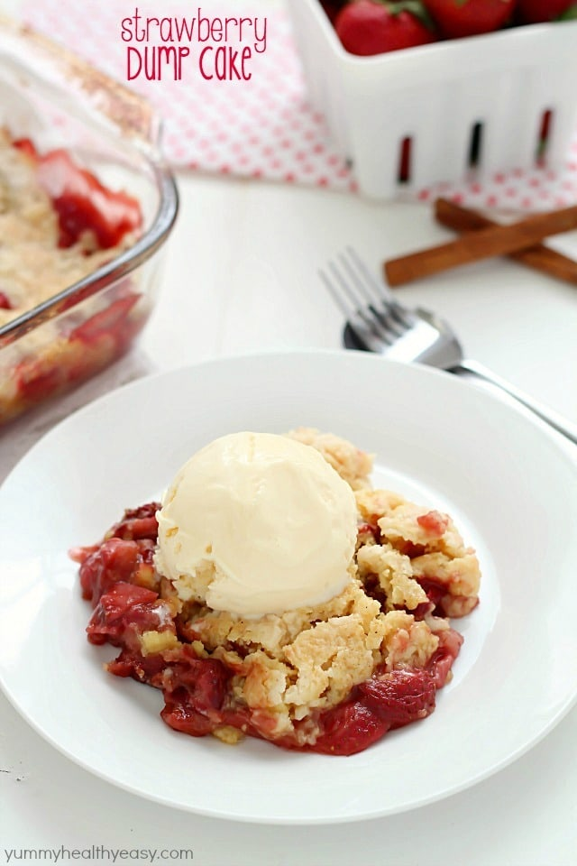 Strawberry Dump Cake | 25 Christmas Potluck Recipes for Your Office Party