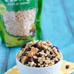 This granola trail mix is such an easy snack! It's healthy, full of protein, and totally delicious.