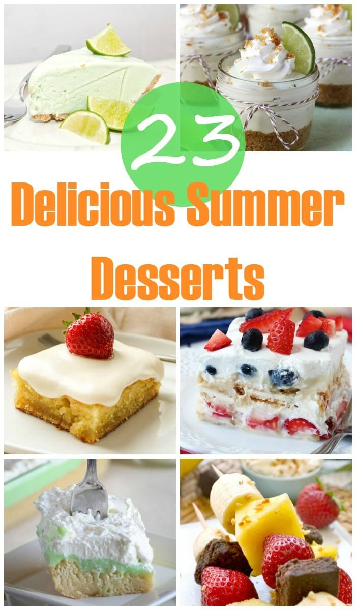23 delicious summer desserts to try asap! Get ready for summer with these 23 Delicious Summer Desserts - from ice box cakes to popsicles, these summer desserts will have your taste buds ready for summer fun!
