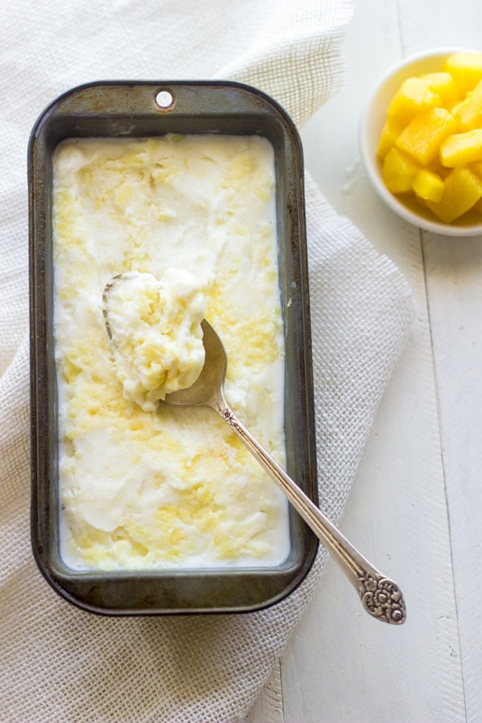 Pineapple Coconut Frozen Yogurt - I love a good healthy treat that is easy to put together.
