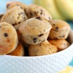Banana Chocolate Chip Mini Muffins - a great breakfast to start your day or the perfect snack/dessert to satisfy your sweet tooth! (only 4 main ingredients!)