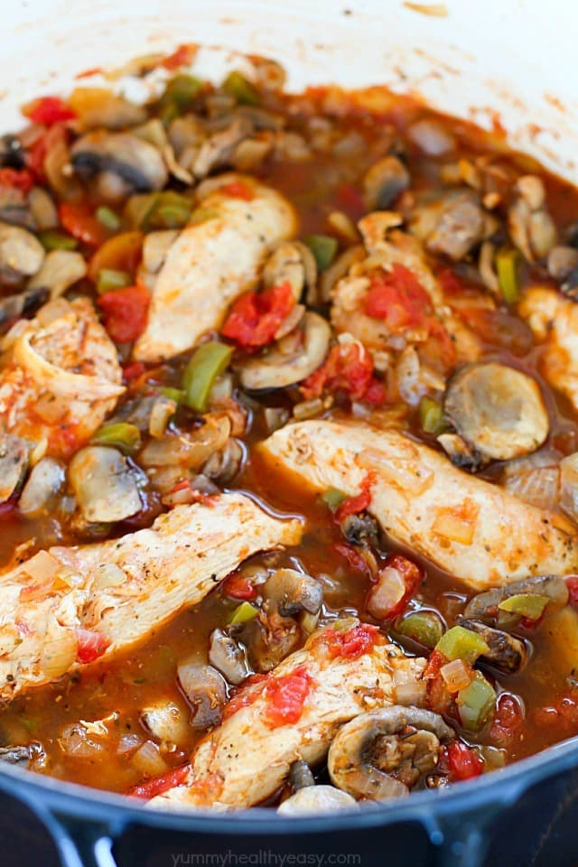 This Chicken Cacciatore Recipe is full of chicken and vegetables in a ...