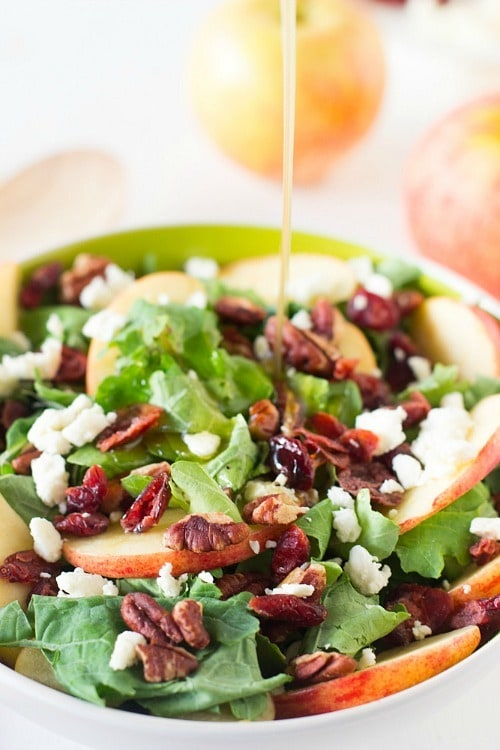 Apple Pecan Feta Salad with Apple Honey Dressing by Jessica in the Kitchen