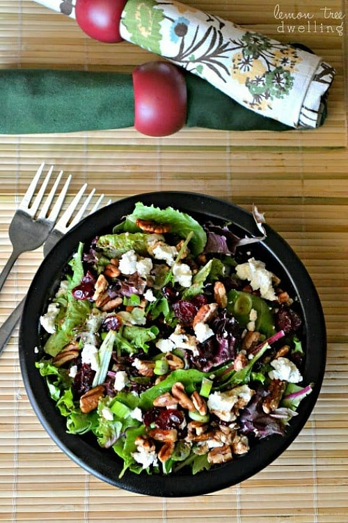 Cherry Pecan Goat Cheese Salad by Lemon Tree Dwelling
