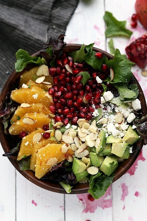 Pomegranate Orange Salad by Chelsea's Messy Apron