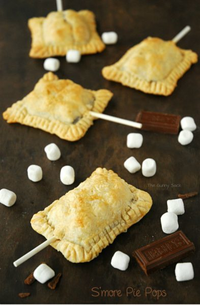 S'more Pie Pops by TheGunnySack.com - I'm not sure who would like these more - my kiddos or myself!