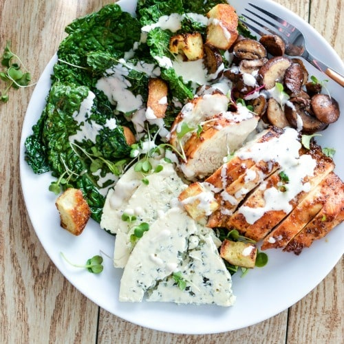 Charred Kale Casear Salad with Honey Chipotle Chicken by Cooking & Beer