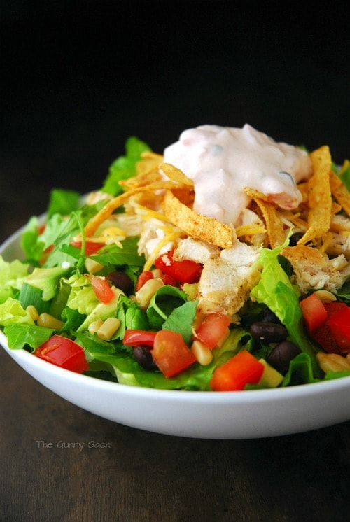 Chicken Fajita Southwest Salad by The Gunny Sack