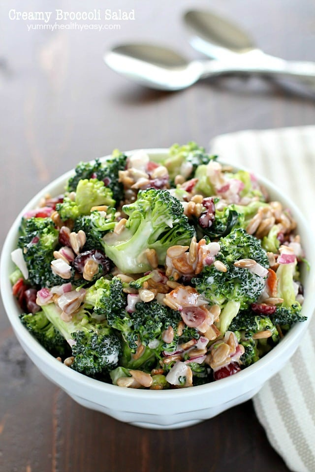 Creamy Broccoli Salad | Appetizing Side Dishes For Chicken You'll Love | Homemade Recipes
