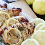 This clean-eating Grilled Lemon Rosemary Chicken recipe is easy to make, healthy and bursting with lemony flavor! #FosterFarmsFresh #AD
