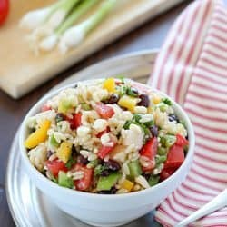 Southwestern Orzo Salad Recipe + A Giveaway!