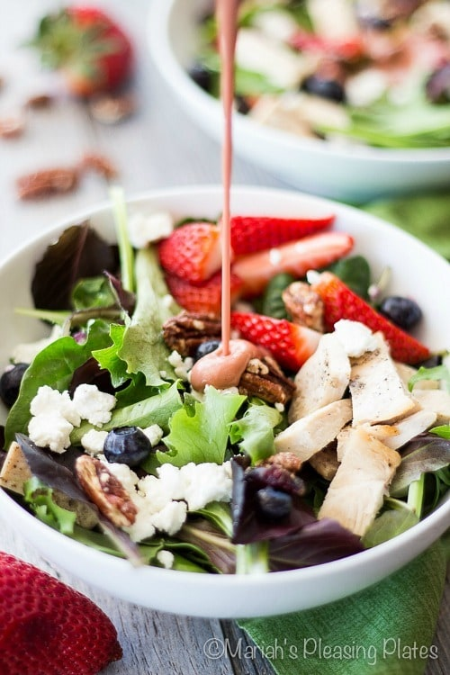 Sweet Strawberry Chicken Salad by Mariah's Pleasing Plates