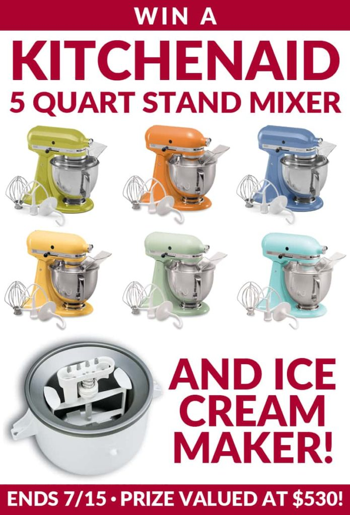 KitchenAid Stand Mixer & Ice Cream Maker Giveaway!!