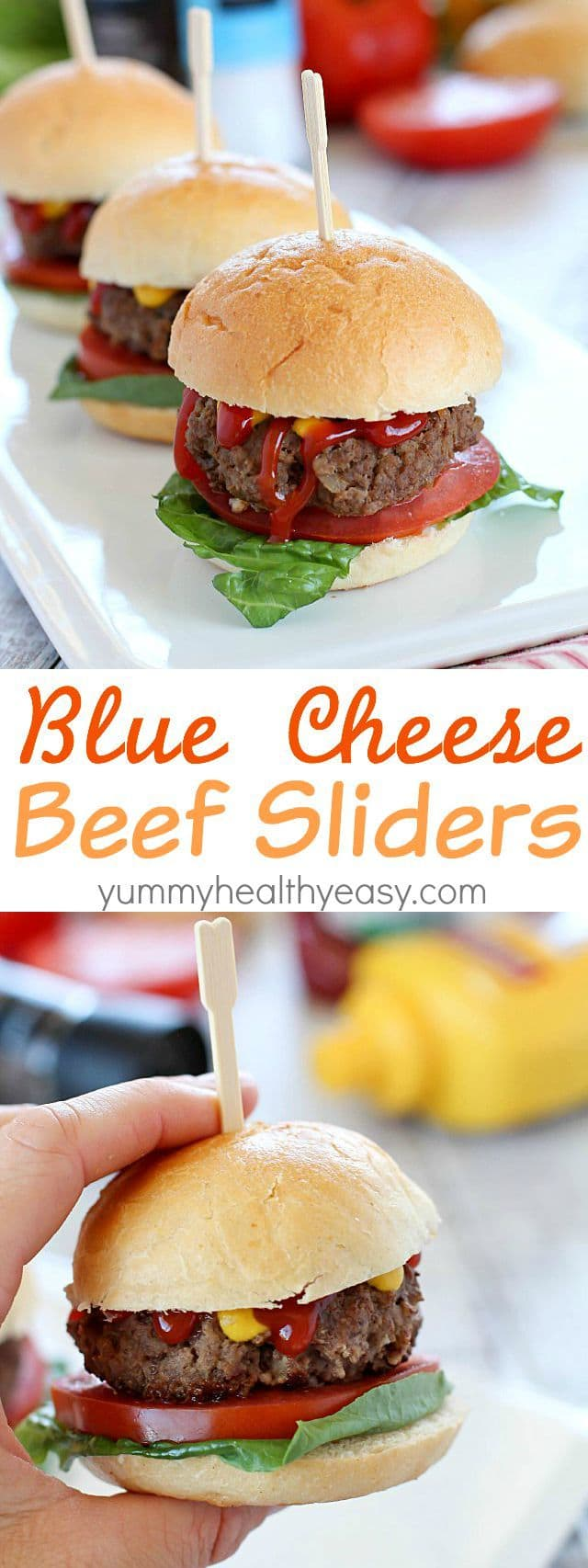 Juicy, flavorful Blue Cheese Beef Sliders for the win! Not only are these delicious, but they're super easy too! And with a secret ingredient... #ad