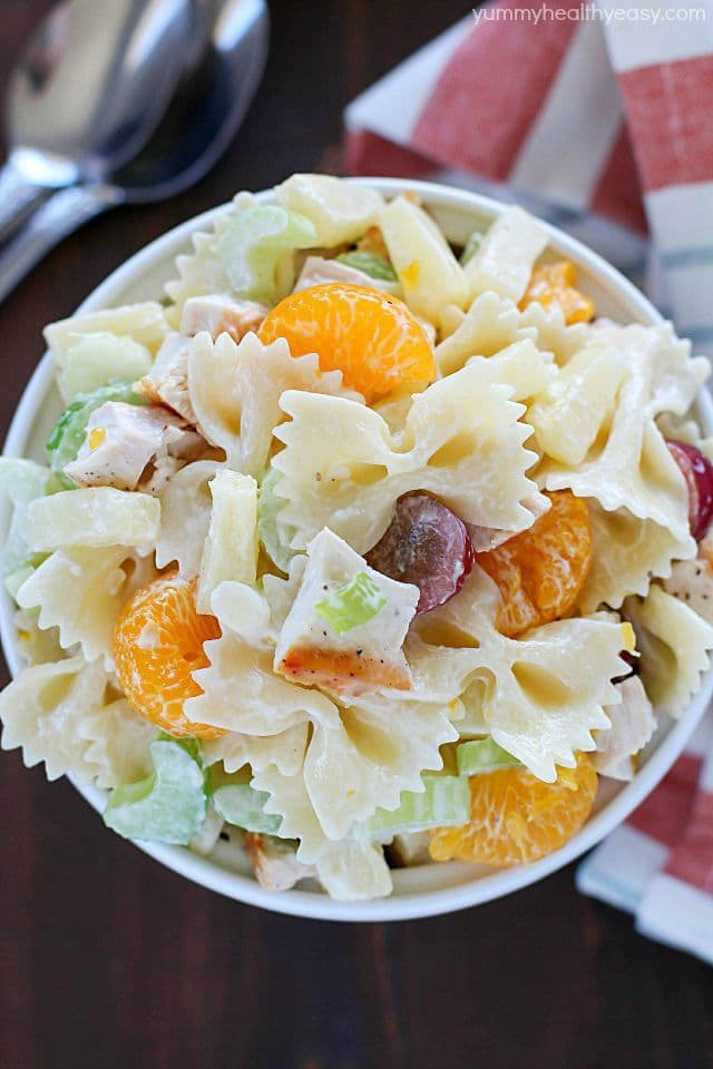 Your next BBQ cries out for this Tropical Chicken Bowtie Pasta Salad ...