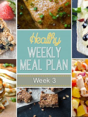 Check out our Healthy Weekly Meal Plan #3 - lots of delicious daily entrees as well as a breakfast, lunch, snack and dessert...you won't be disappointed!